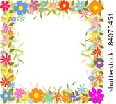 a floral border with flowers... | Shutterstock .eps vector #84075451