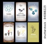 floral name card collection | Shutterstock .eps vector #84088225