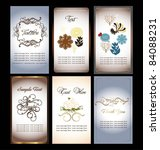 floral name card collection | Shutterstock .eps vector #84088231
