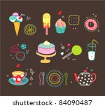 sweets icons | Shutterstock .eps vector #84090487