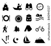 Leisure, sports and recreation icon set - stock vector
