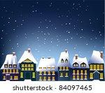 winter town | Shutterstock . vector #84097465