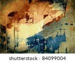 vector abstract art grunge... | Shutterstock .eps vector #84099004