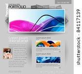 gray website portfolio template ...   Shutterstock .eps vector #84117139