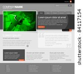 gray website template 960 grid. | Shutterstock .eps vector #84117154