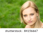portrait of a cute young woman... | Shutterstock . vector #84156667