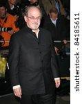 salman rushdie arriving for the ... | Shutterstock . vector #84185611