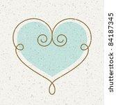 vintage heart vector... | Shutterstock .eps vector #84187345