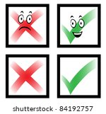 check marks with funny cartoon... | Shutterstock .eps vector #84192757