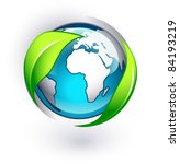 green earth on a white... | Shutterstock .eps vector #84193219