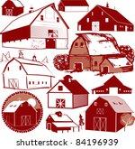 barn collection | Shutterstock .eps vector #84196939
