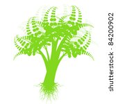 beautiful art tree isolated on... | Shutterstock .eps vector #84200902