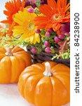 Halloween Flowers And Pumpkins