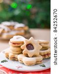 Linzer Cookies With Christmas...
