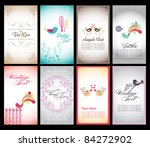 sweet name card collection | Shutterstock .eps vector #84272902