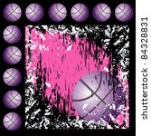 black and pink grunge... | Shutterstock .eps vector #84328831