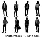 male fashion | Shutterstock .eps vector #84345538