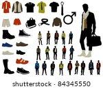 male fashion | Shutterstock .eps vector #84345550