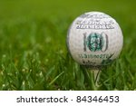 hundred dollars on golf ball