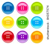 colored sewing button collection