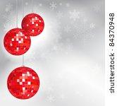 christmas disco balls with... | Shutterstock .eps vector #84370948