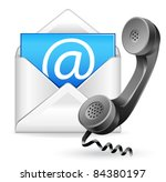 contact us vector icon   e mail ... | Shutterstock .eps vector #84380197