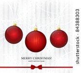 vector greeting card. merry... | Shutterstock .eps vector #84388303