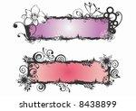 illustration of floral frames | Shutterstock .eps vector #8438899
