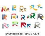 set of alphabet symbols and... | Shutterstock .eps vector #84397375