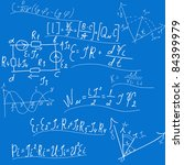 background with formulas ... | Shutterstock .eps vector #84399979