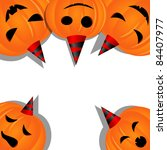 vector halloween picture with... | Shutterstock .eps vector #84407977