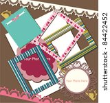 scrapbook elements | Shutterstock .eps vector #84422452