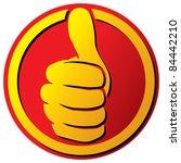 vector hand showing thumbs up... | Shutterstock .eps vector #84442210
