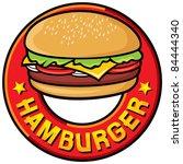hamburger | Shutterstock .eps vector #84444340