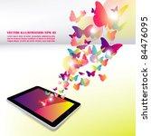 concept design  butterfly... | Shutterstock .eps vector #84476095