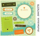 Set Of Cute Scrapbook Elements...