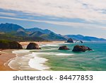 View Of Cannon Beach In Oregon...