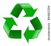 isolated recycling symbol. 3d... | Shutterstock . vector #84481204