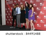 Small photo of VENICE, ITALY - SEPTEMBER 06: James Howson, Andrea Arnold, Kaya Scodelario and Shannon Beer attends the 'Wuthering Heights' Photocall during the Venice Festival on September 6, 2011 in Venice, Italy