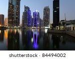 Jumeirah Lake Towers At Night....