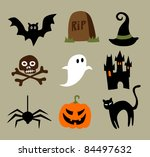 halloween cartoons | Shutterstock .eps vector #84497632