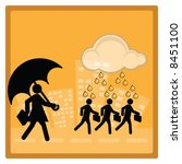 business concept   protection...   Shutterstock . vector #8451100