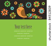 cute card with deco bird.... | Shutterstock .eps vector #84512839