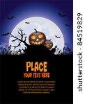 halloween background with...   Shutterstock .eps vector #84519829