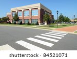 office building with pedestrian ... | Shutterstock . vector #84521071