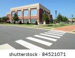 office building with pedestrian ... | Shutterstock . vector #84521071
