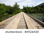 wooden bridge across for... | Shutterstock . vector #84526420