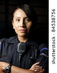 A Female Police Officer Posing...