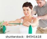 patient doing some special... | Shutterstock . vector #84541618