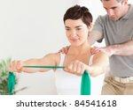patient doing some special... | Shutterstock . vector #84541618
